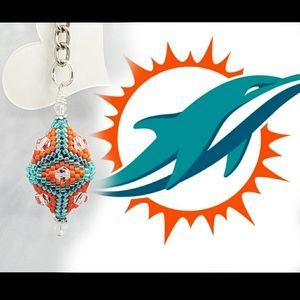 Football Keychain (Dolphins)
